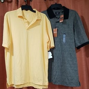 Lot of 2 polo style shirts NWT size L